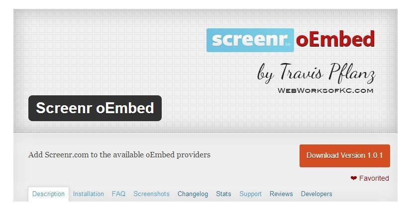Screenr oEmbed WordPress Plugin